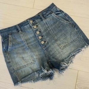 We The Free cut off denim shorts